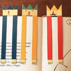 DIY bookmarks for valentine favors -- fun to add with a pencil exchange at school