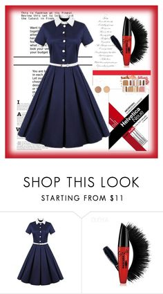 """seven grils 59"" by difen ❤ liked on Polyvore featuring BHCosmetics and vintage"