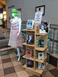 Women's History Month. 3/14. Display: Judy MacQueen. Photo: Sylvia Frost.