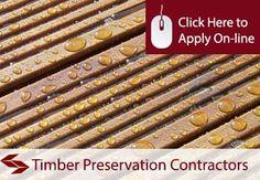 Timber Preservation Contractors Public Liability Insurance