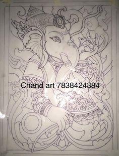 Black Canvas Paintings, Easy Canvas Painting, Indian Art Paintings, Kalamkari Painting, Madhubani Painting, Art Forms Of India, Kerala Mural Painting, Rangoli Border Designs, Coin Art