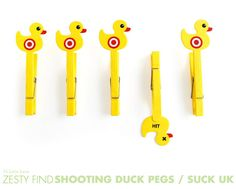 shooting duck pegs from SUCK UK by 74 Lime Lane, via Flickr