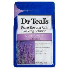Dr Teal's Pure Epsom Salt Soothe & Sleep Lavender Soaking Solution – - Modern Goodnight And Goodbye, Epsom Salt Magnesium, Magnesium Sulfate, Bath Soak, Lili Reinhart, Sore Muscles, Bath Salts, How To Relieve Stress, Beauty
