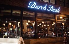 Burch Steak & Pizza Bar, Minneapolis. highly recommend the downstairs at Burch Steak & Pizza Bar. Food is amazing. The downstairs is more casual & you can eat at the bar, and great beer options, too!