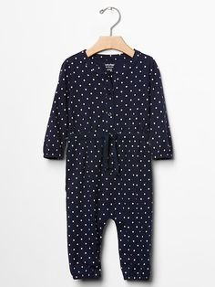 Dot tie-waist one-piece Product Image