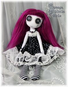 Button eyed Gothic doll Isabelle Eventide