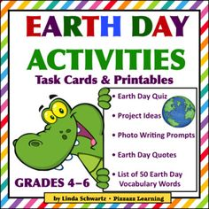 Earth Day is March 22nd Presenting a time-saving, fun-filled activity pack to help your students celebrate! Earth Day Activities  Grades 46  is filled with a variety of fun, creative projects to help celebrate this special day. It includes project ideas on colorful Task Cards that will have your students researching, writing poems and short stories, and designing T-shirts, bumper stickers, and postage stamps  all in honor of Earth Day.
