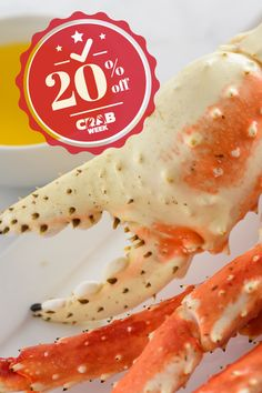 Feast like a Crab Week king! 🦀 There's never been a better time to try our King Crab Legs. Get 20% off your order of crab products when you use promo code CRABWEEK. Lobster Gram, King Crab Legs, Seafood, Products, Sea Food, Gadget, Seafood Dishes