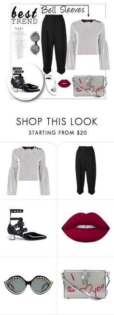 """""""Bell Sleeves"""" by dazedmuse ❤ liked on Polyvore featuring TIBI, Dolce&Gabbana, self-portrait, Lime Crime, Gucci and Black Magic Lashes"""