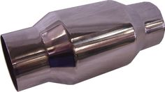 """Race Cat, Stainless Steel, 100 cell stainless steel internals, 5"""" body, available in 3.5"""" and 4"""" inlet/outlet."""