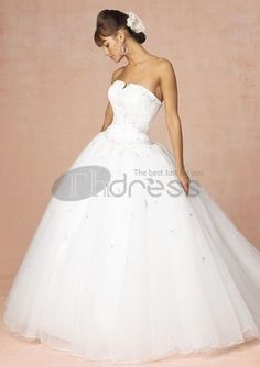Strapless Wedding Dresses / custom made hot sell simple strapless wedding dresses