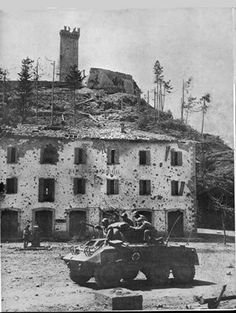 A M8 of Brazilian Forces at Montese, April of 1945  http://en.wikipedia.org/wiki/File:Montesem8.jpg