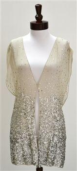 Alice + Olivia  Brooklyn Flutter Kimono Sequin Vest