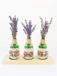 West Green House Lavender Decorated Jars, Handmade Decorations, Ceramic Vase, Dried Flowers, Home Gifts, Vases, Flower Arrangements, Wedding Flowers, Lavender