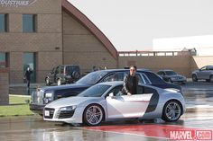 Take a look back at Tony Stark's Audi R8 Coupé from the first Iron Man film, and stay tuned for more spotlights on Tony's high tech Audi rides as we get ready for Marvel's Iron Man 3, in theaters May 3!  http://marvel.com/news/story/20481/iron_man_3_pedal_to_the_metal_pt_1