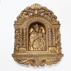 Set-In Madonna Relief Wall Plaque