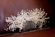 Heavy beaded Bridal hair vine, silver wedding hair comb, Bridal Hair Vine, Bridal Headpiece, Bridal Headband by LAmei on Etsy