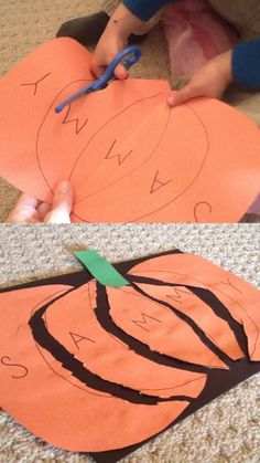 Pumpkin Name Puzzle: a preschool Halloween Craft