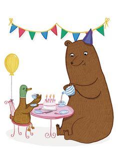 Henny Bear and Duck - Chloe Illustrates