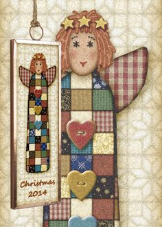 Gingerbread Studio has been creating collectible Christmas ornaments since 1999 This Angel is part of a set featuring a Santa Snowman Angel and a tree Collect all four Dated ornaments are a great gift for first home new baby first Christmas together! Attach to a bottle of wine with a big bow for a