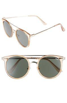 bd53bbe05ab12 Quay Australia Quay Australia Kandy Gram 51mm Round Sunglasses available at   Nordstrom Quay Australia