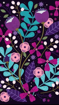 Floral Pattern Vector - Trend Topic For You 2020 Cute Wallpapers, Wallpaper Backgrounds, Iphone Wallpaper, Illustrations, Illustration Art, Art Picasso, Floral Pattern Vector, Pattern Wallpaper, Pattern Art