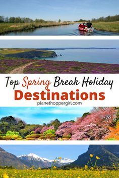 Love spring? Here is a list of top destinations to visit in spring around the world with top spring activities highlighted. spring holidays | spring holidays around the world | spring destinations | spring break destinations | spring break activities | spring break travel | spring vacation Top Spring Break Destinations, Spring Break Vacations, Vacations In The Us, Christmas Destinations, Spring Vacation, Family Destinations, Summer Travel, Road Trip With Kids, Travel With Kids