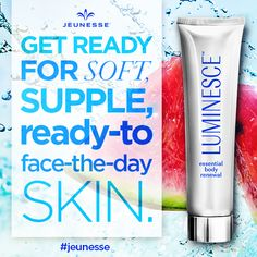 #LUMINESCE™ essential body renewal visibly repairs dry, damaged skin and soothes itchy or irritated areas. Click to learn more about its incredible benefits:  http://www.jeunesseglobal.com/docs/productsheets/EBR_PRODUCTSHEET.pdf
