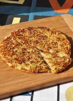Rosti pomme de terre      500 g de pommes de terre à chair ferme     1 cuillère à café rase de sel fin     20 g de beurre     Fleur de sel et poivre du moulin et     1 poêle de 25 cm de diamètre