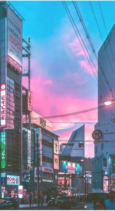aesthetic pastel aesthetic landscape aesthetic japanese japan anime wallpaper Iphone Wallpaper Images, Aesthetic Desktop Wallpaper, Background Images Wallpapers, City Wallpaper, Anime Scenery Wallpaper, Landscape Wallpaper, Aesthetic Backgrounds, Wallpaper Backgrounds, Aesthetic Japan
