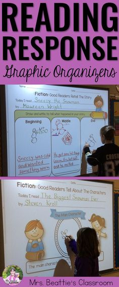 Are you teaching your students to respond to fiction texts? These reading response graphic organizers are perfect for whole-class teaching on the SMART Board, and for independent journals, classroom activities or homework in a print format!