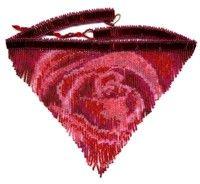 Blood Rose Fringe Necklace : Beading Patterns and kits by Dragon! Seed Bead Patterns, Beading Patterns, Beading Ideas, Beaded Jewelry, Beaded Necklaces, Fringe Necklace, Beads And Wire, Bead Crafts, Seed Beads