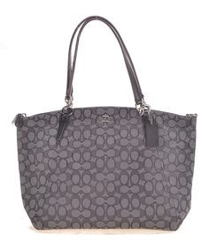 Look what I found on #zulily! Smoke & Black Signature J Kelsey Tote by Coach #zulilyfinds