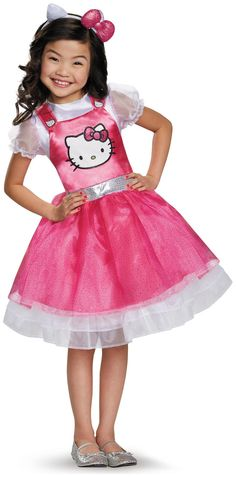 PartyBell.com - Hello Kitty Pink Deluxe Child Costume