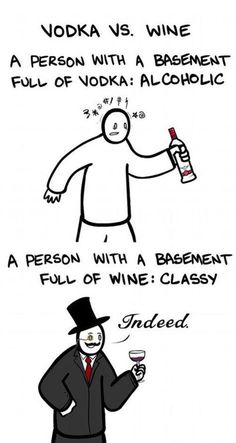 I do love vodka, but a basement full of wine seems a lot cooler. Makes me think of my sister!
