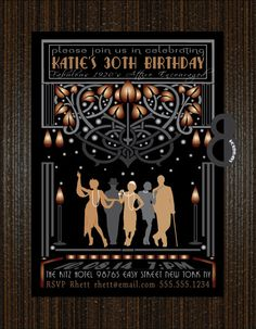 Roaring 20s Glamorous Flapper Invitation by 8Hollydays on Etsy, $15.00