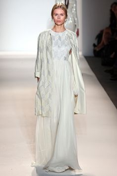 white on white chevron  Jenny Packham Fall 2013 Ready-to-Wear Collection Slideshow on Style.com