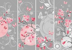 paintings of japanese cherry blossoms | Cherry blossom set, Samples of Japanese cherry