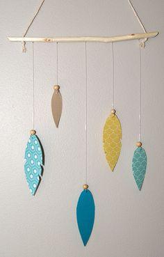 Suspension pour décoration Mobile plume Suspension plume