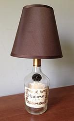Hennesy Conac Recycled Bottle Lamp