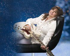 Deborah Allen album art photo for Rockin' Little Christmas.