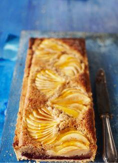 Pear and hazelnut Bakewell tart | Olive Magazine