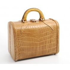 Butter Coloured Crocodile Beauty Case
