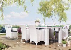 amanda sada kresiel rapallo stol 200 cm z umeleho ratanu biela 1 Outdoor Furniture Sets, Outdoor Decor, Amanda, Praha, Home Decor, Decoration Home, Room Decor, Home Interior Design, Home Decoration