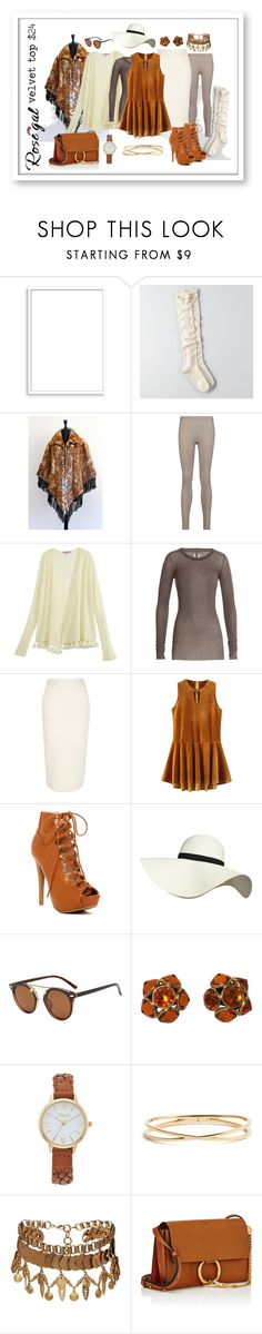 """""""love the camel velvet top!"""" by caroline-buster-brown ❤ liked on Polyvore featuring Bomedo, American Eagle Outfitters, Live the Process, Calypso St. Barth, Rick Owens, River Island, Pilot, Yves Saint Laurent, Vivani and Nadri"""