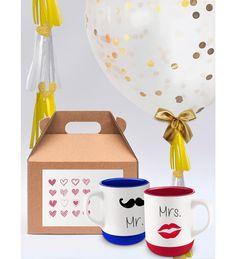 El mejor regalo para tu pareja! Set de tazas con Globo JUMBO