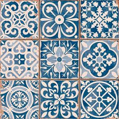Tapestry Blue ceramic wall tiles by Piazza Tiles   Budget tiles   PHOTO GALLERY   Style at Home   Housetohome.co.uk