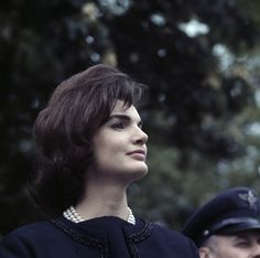 Jackie Kennedy at the White House, 1962.