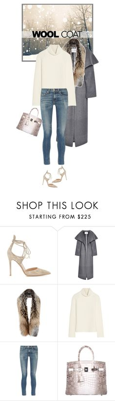 """""""Cold Weather Essentials: Wool Coat"""" by mariots22 ❤ liked on Polyvore featuring Gianvito Rossi, Prabal Gurung, Sally Lapointe, Antonio Berardi, rag & bone and Hermès"""