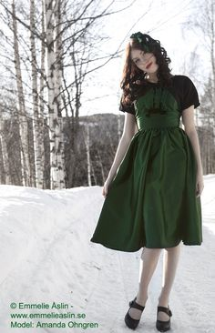 Green 1950s Dress with Bolero 50s Dress Vintage Inspired